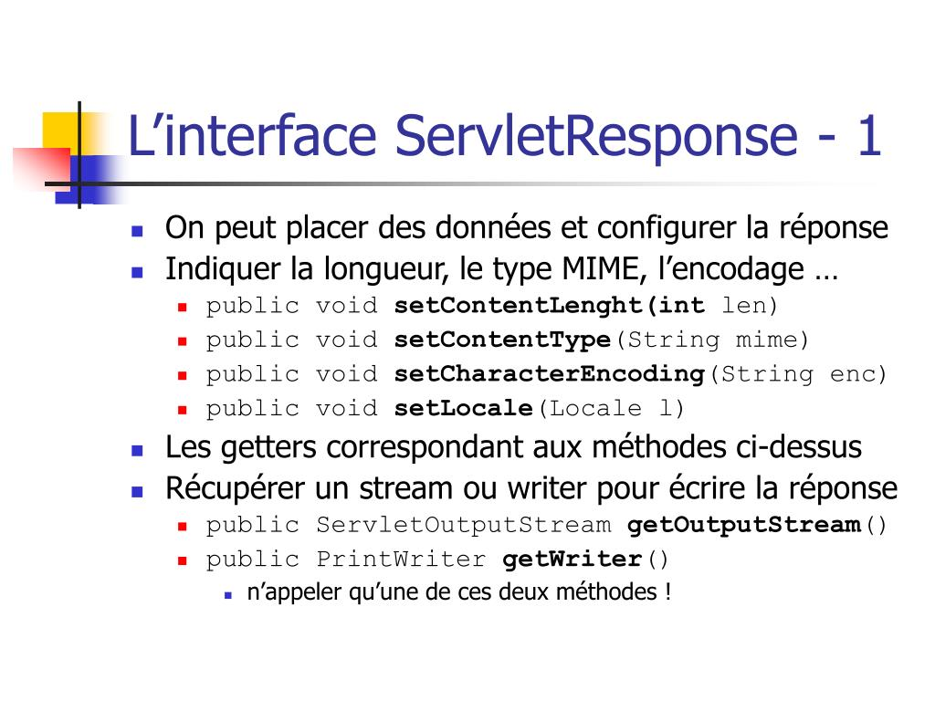 L'interface ServletResponse - 1