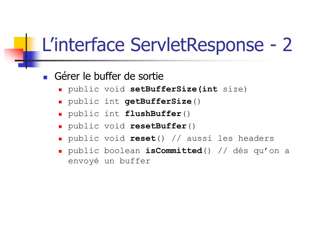 L'interface ServletResponse - 2