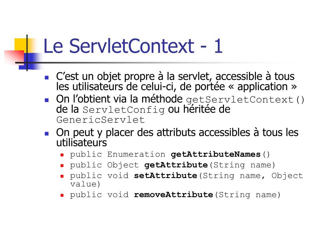 Le ServletContext - 1