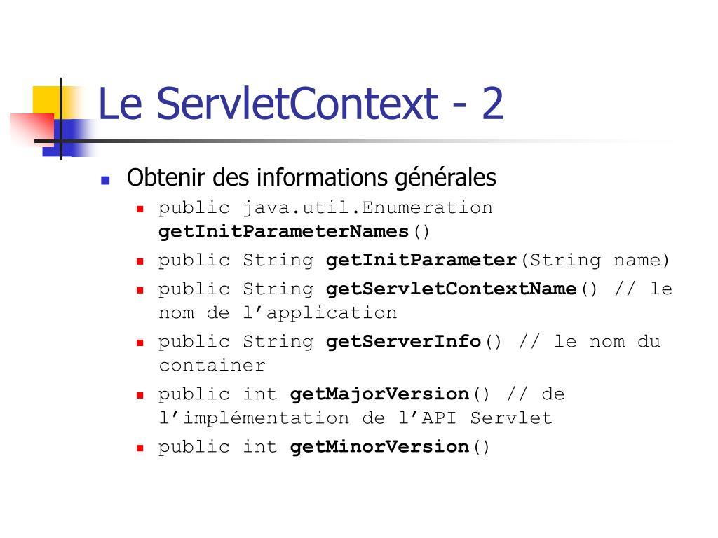 Le ServletContext - 2