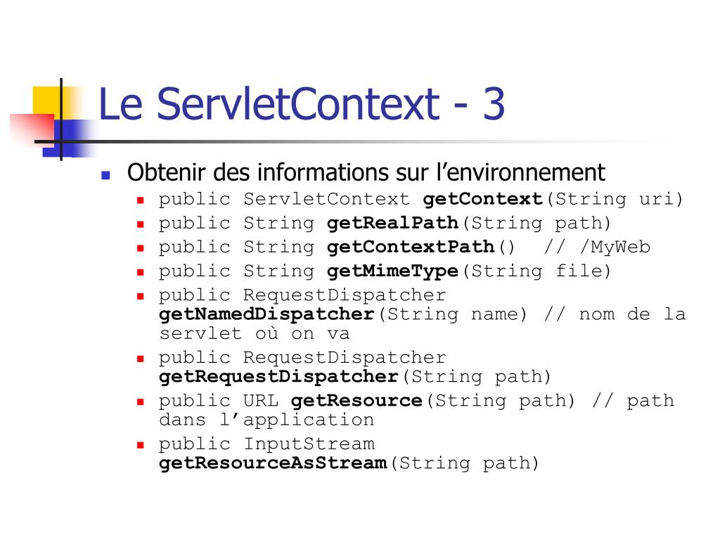 Le ServletContext - 3