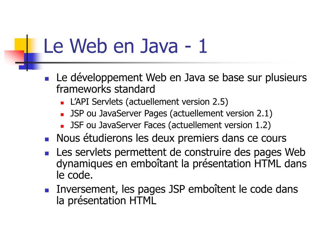 Le Web en Java - 1