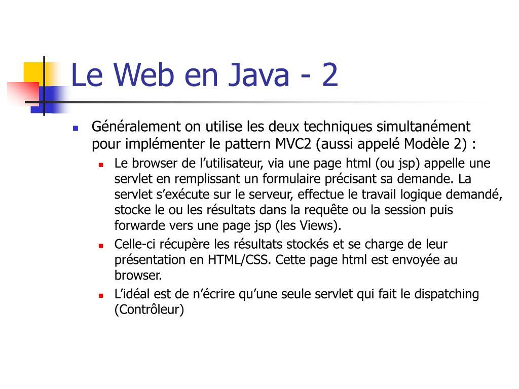 Le Web en Java - 2
