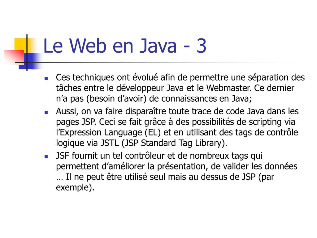 Le Web en Java - 3