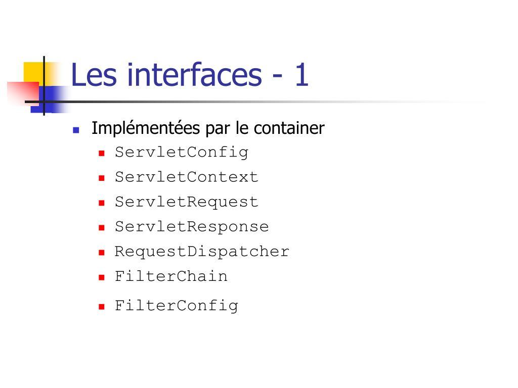 Les interfaces - 1