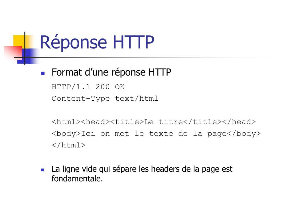 Réponse HTTP