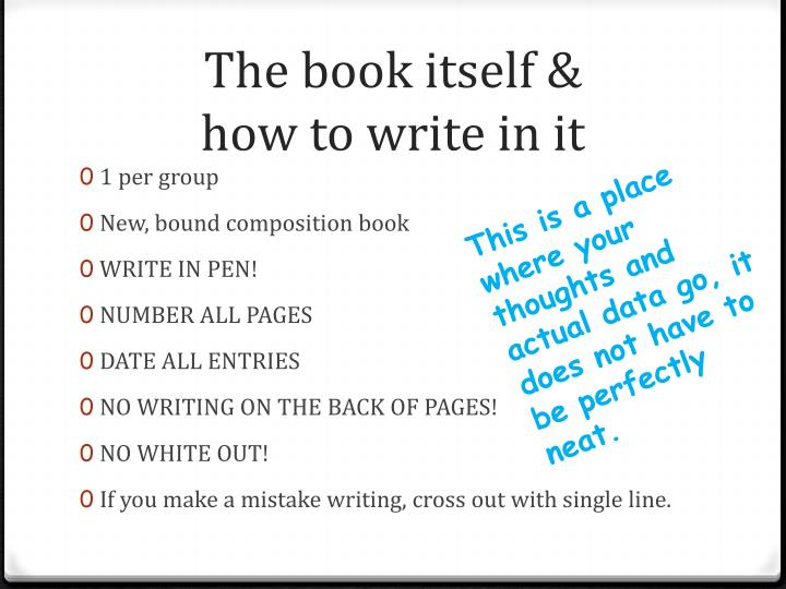 The book itself how to write in it l.jpg