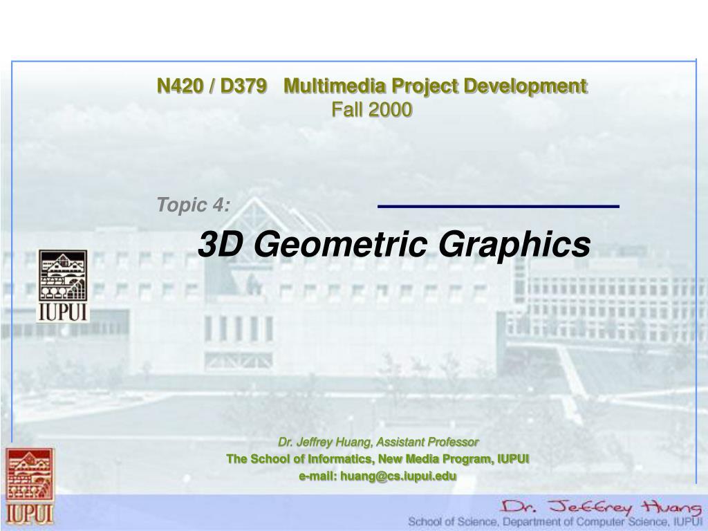 N420 / D379   Multimedia Project Development