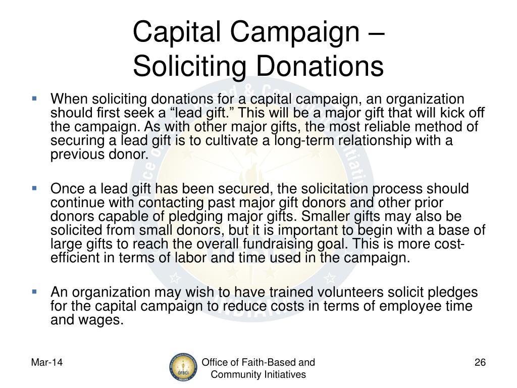 Capital Campaign –