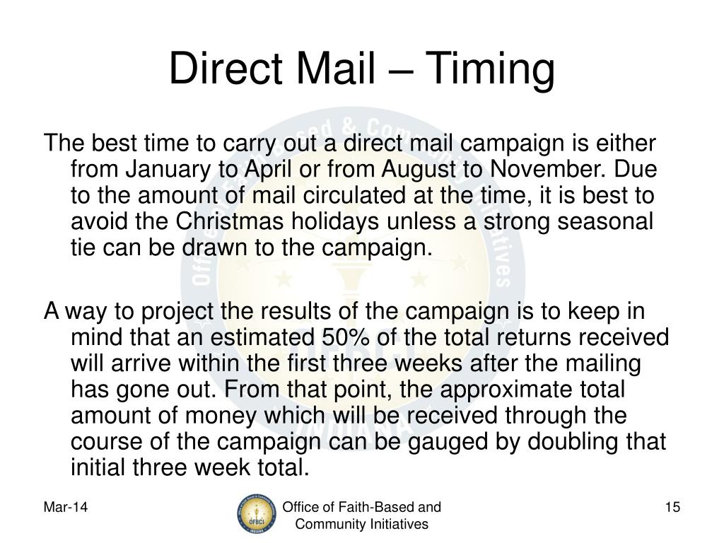 Direct Mail – Timing