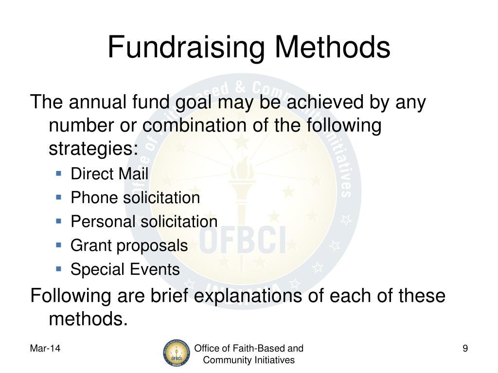 Fundraising Methods