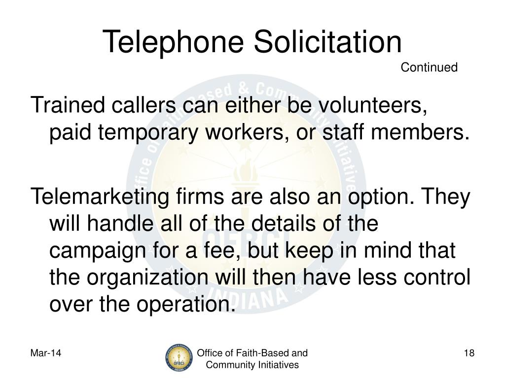 Telephone Solicitation