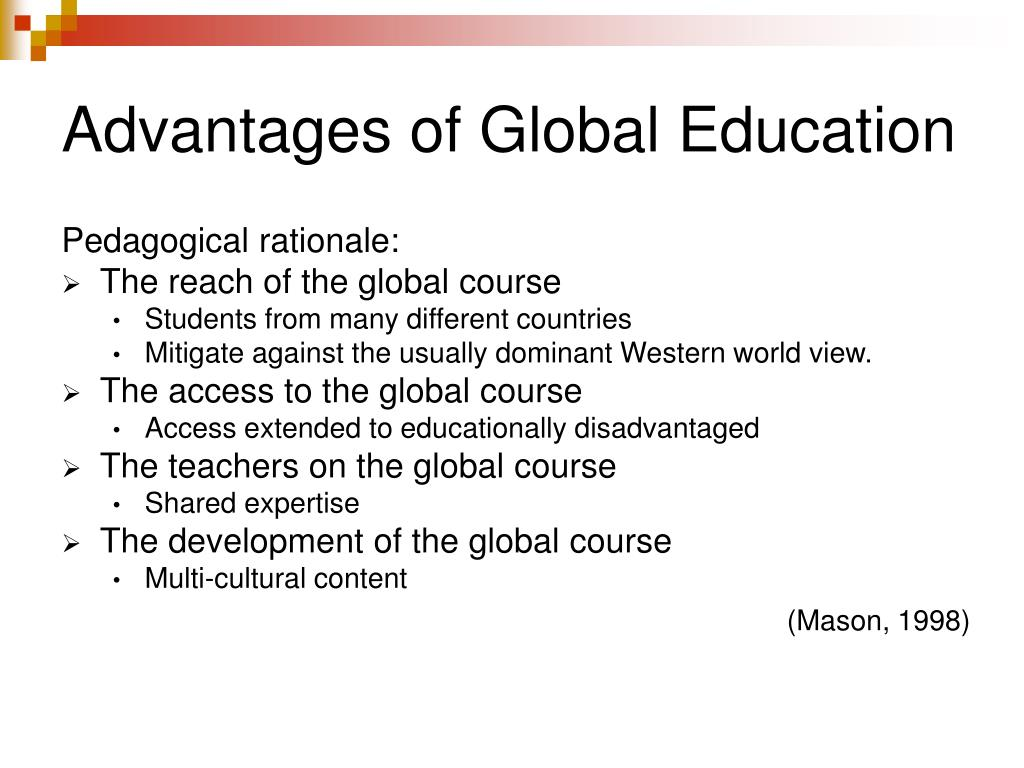 Advantages of Global Education