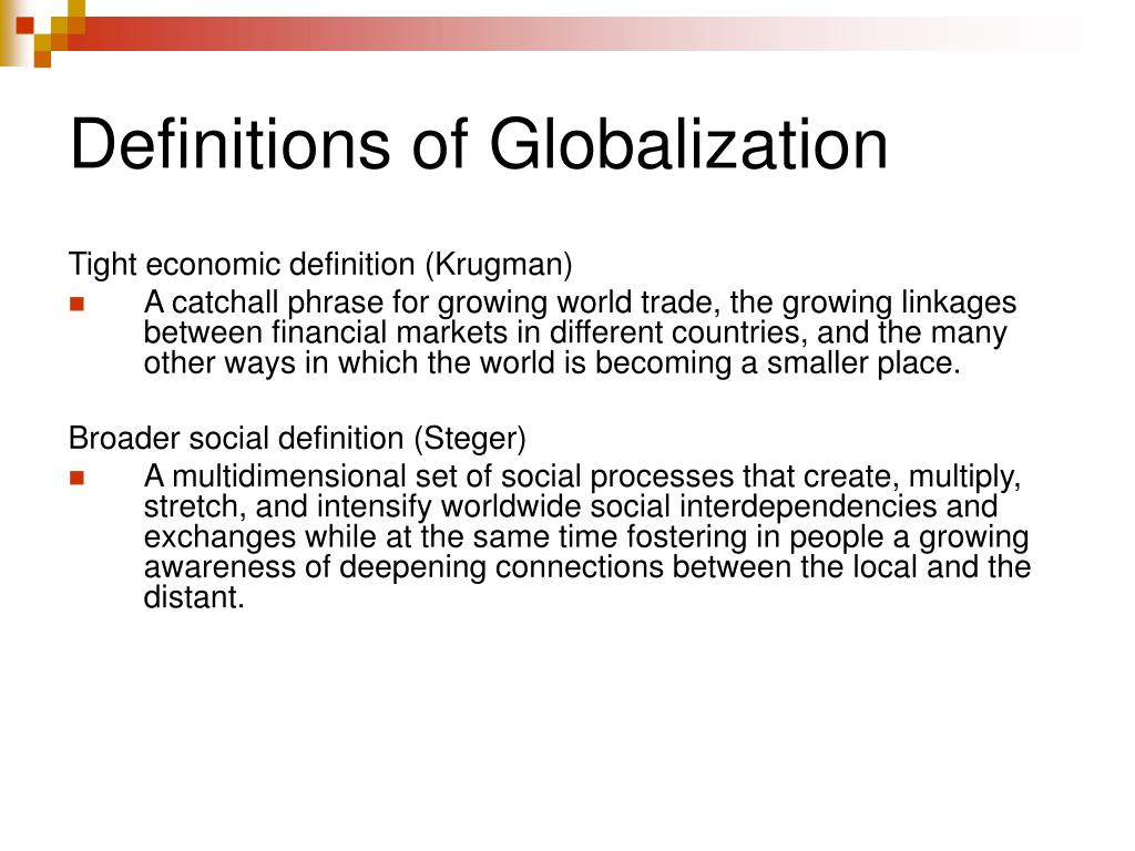 Definitions of Globalization
