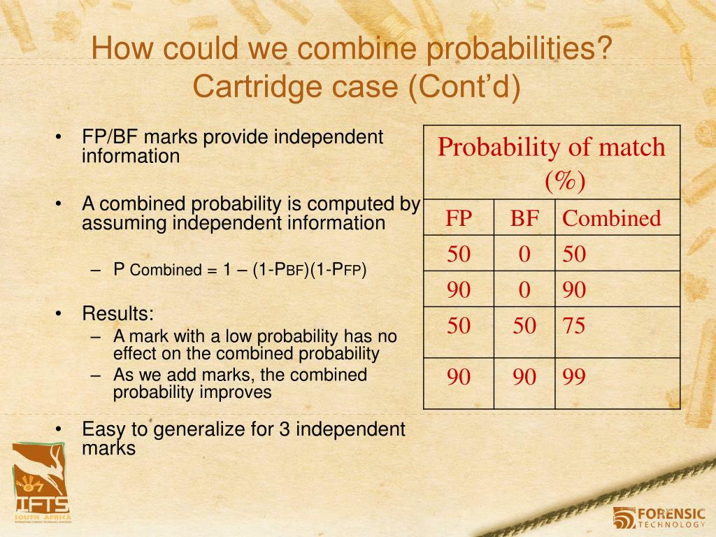 How could we combine probabilities?
