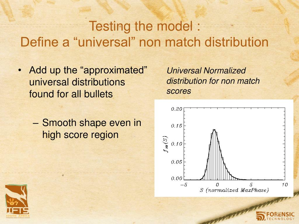 """Add up the """"approximated"""" universal distributions found for all bullets"""