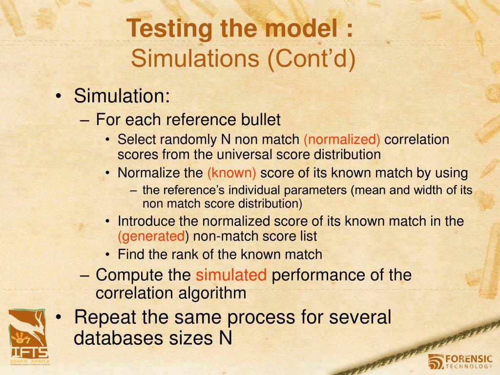 Testing the model :