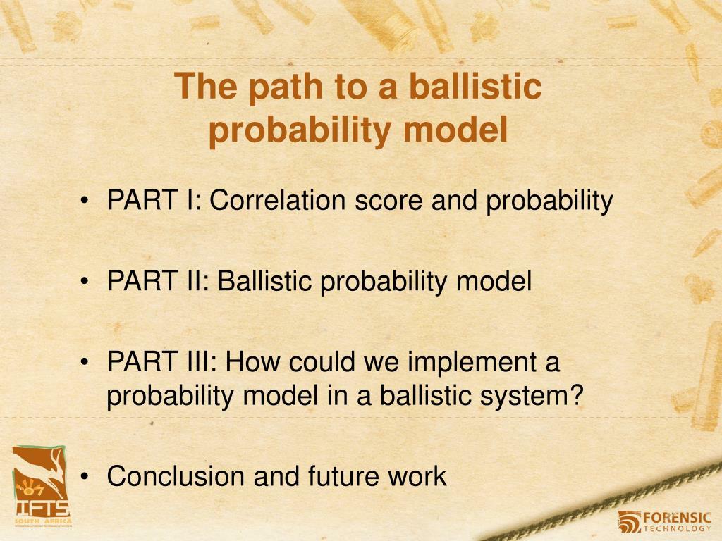 The path to a ballistic