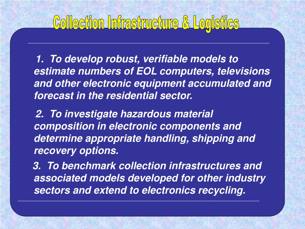 Collection Infrastructure & Logistics