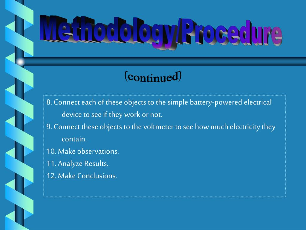 Methodology/Procedure