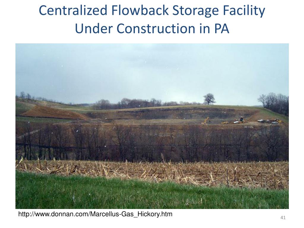 Centralized Flowback Storage Facility Under Construction in PA