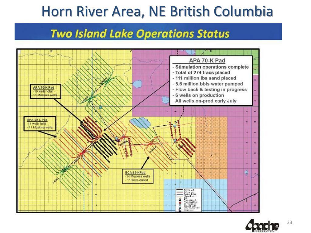 Horn River Area, NE British Columbia
