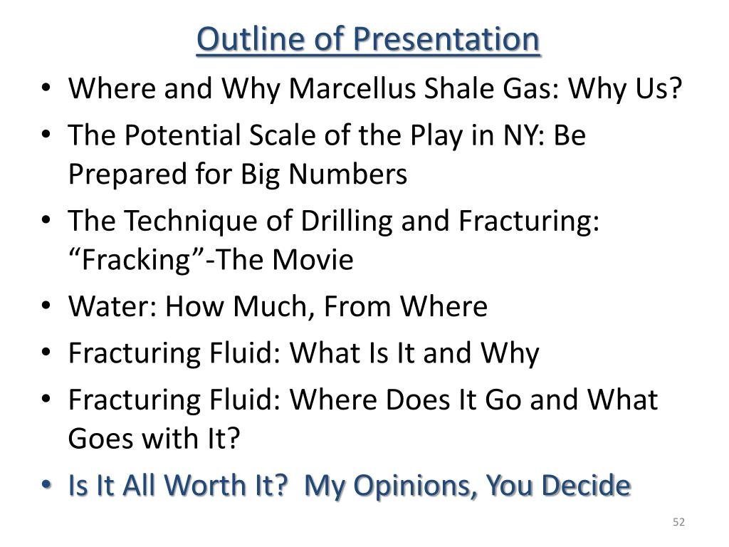 Outline of Presentation