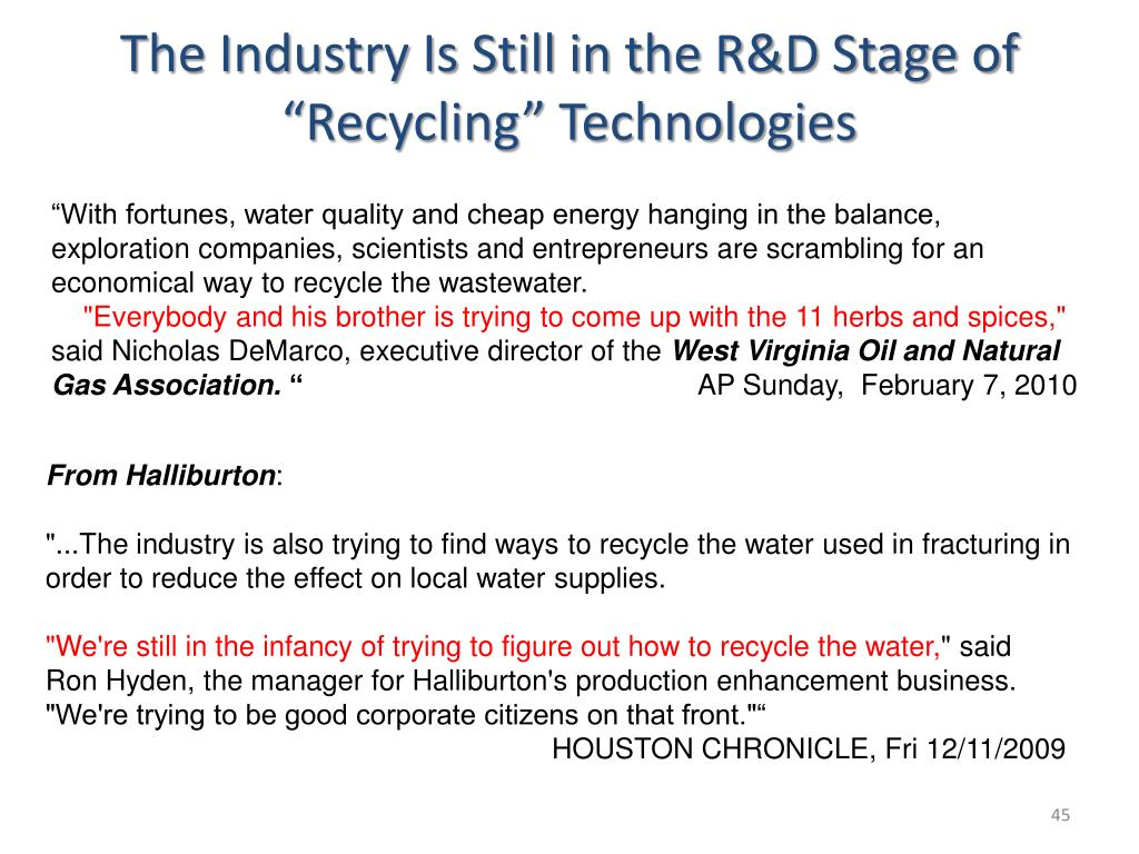 "The Industry Is Still in the R&D Stage of ""Recycling"" Technologies"