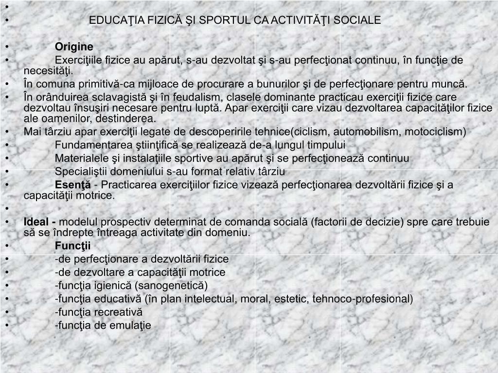 EDUCAŢIA FIZICĂ ŞI SPORTUL CA ACTIVITĂŢI SOCIALE