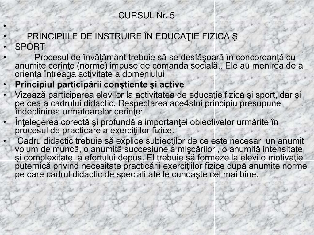 CURSUL Nr. 5