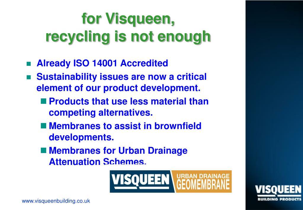 for Visqueen,