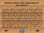 elementi sensori della temperatura di tipo resistivo