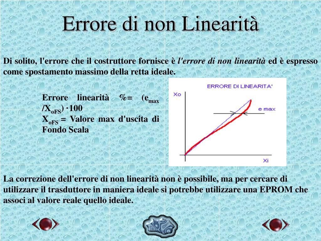 Errore di non Linearità