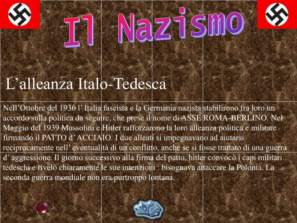 L'alleanza Italo-Tedesca