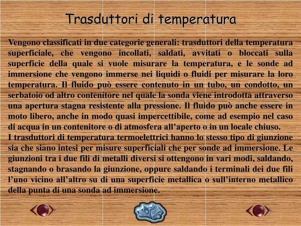 Trasduttori di temperatura