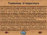 trasduzione di temperatura