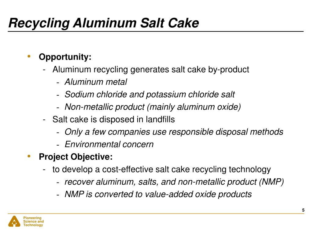 Recycling Aluminum Salt Cake
