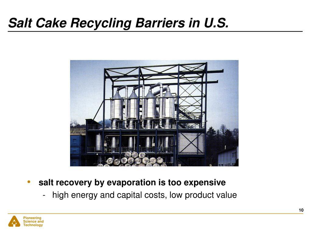 Salt Cake Recycling Barriers in U.S.