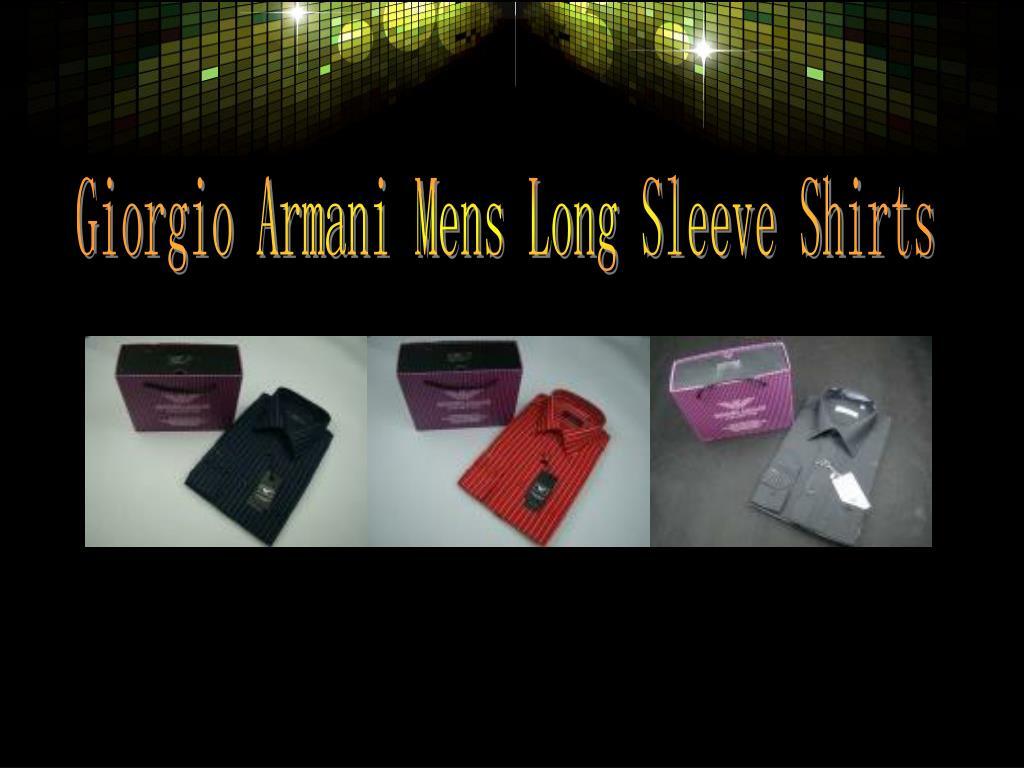 Giorgio Armani Mens Long Sleeve Shirts