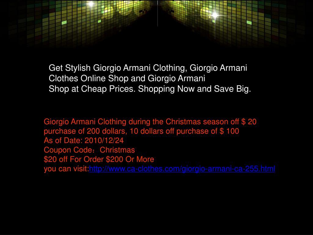 Get Stylish Giorgio Armani Clothing, Giorgio Armani Clothes Online Shop and Giorgio Armani