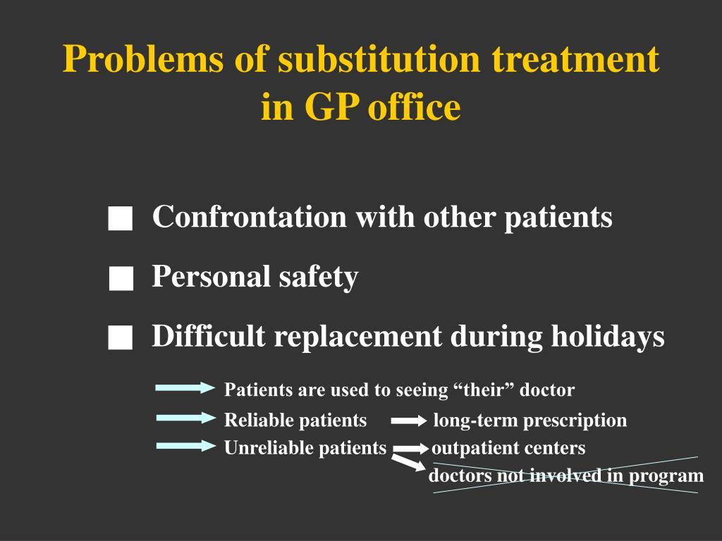 Problems of substitution treatment in GP office
