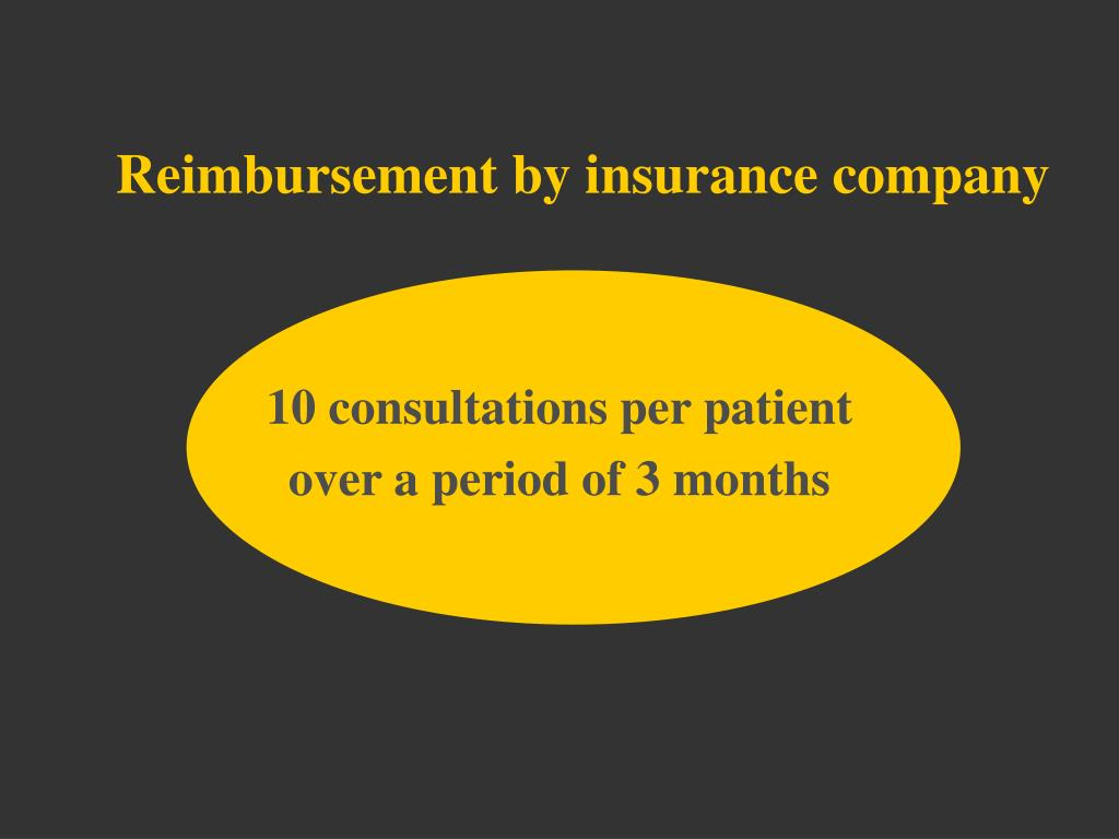 Reimbursement by insurance company