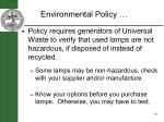 environmental policy43