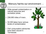 mercury harms our environment