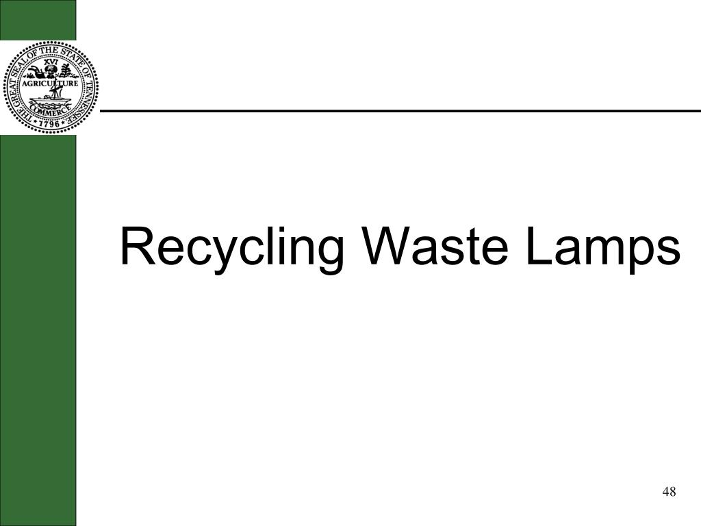 Recycling Waste Lamps