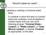 should labels be used