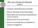 why you should you recycle cont