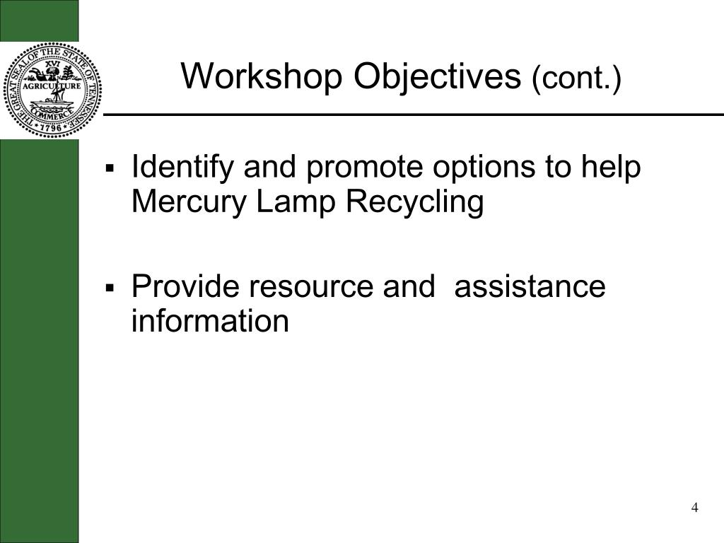 Workshop Objectives