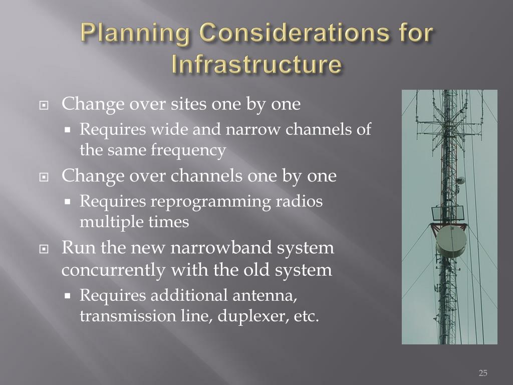 Planning Considerations for Infrastructure