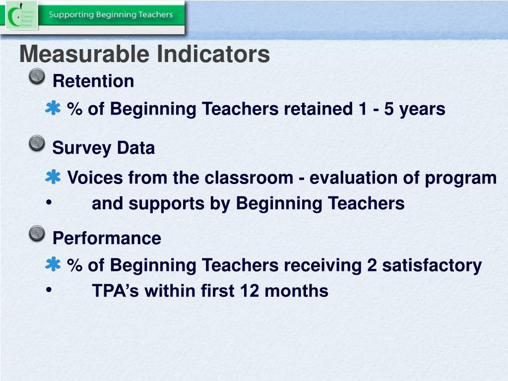 Measurable Indicators